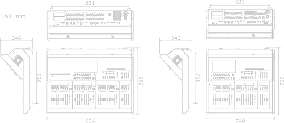 Roland M-5000 Live Mixing Console Specifications