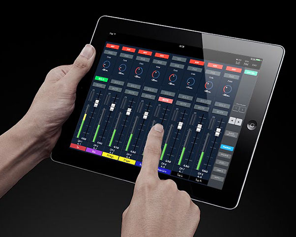 iPad with M-5000 Remote Control Software