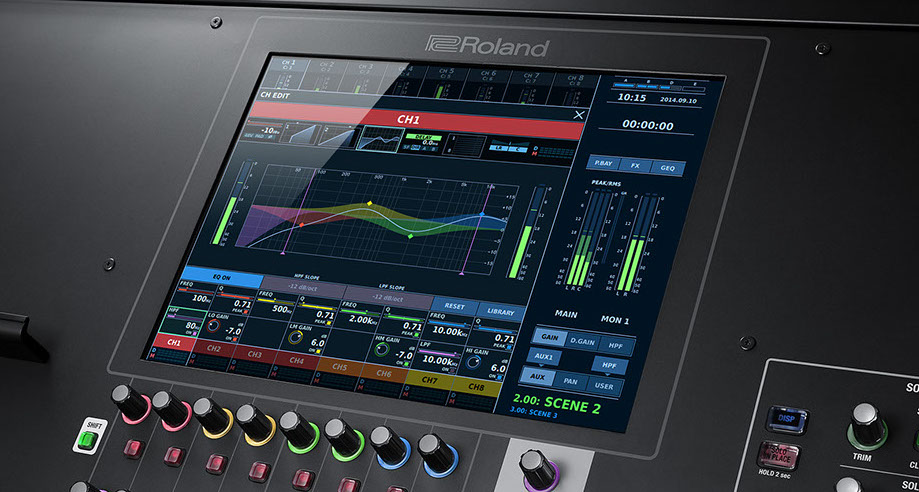 Roland M-5000 Touch Screen Closeup